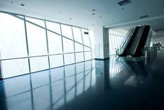 Spacious hall with escalators Stock Photo