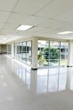 Spacious hallway. Spacious empty hallway with large windows Stock Photos