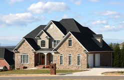 Spacious Home. Spacial new home in upscale community stock image