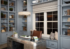 Spacious home office cabinets Stock Image