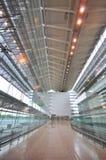 Spacious interior of airport terminal Royalty Free Stock Photos