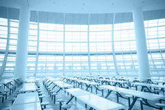 Spacious interior space and glass wall Royalty Free Stock Photography