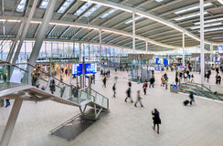 Spacious interior of Utrecht Central Railway Station, Netherlands Stock Photography
