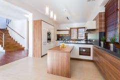 Spacious kitchen Royalty Free Stock Image