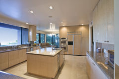 Spacious Kitchen In House Royalty Free Stock Photography