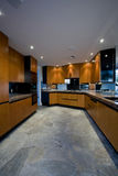 Spacious Kitchen In House Stock Photography
