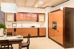 Spacious kitchen interior Royalty Free Stock Photo
