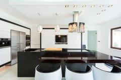 Spacious kitchen in modern style Stock Photo