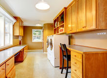 Spacious laundry room at the horse ranch. Royalty Free Stock Photos