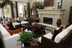 Spacious living room royalty free stock photography