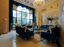 Spacious living room. This is a gorgeous home decor Royalty Free Stock Image