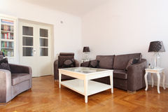 Spacious living room Royalty Free Stock Images