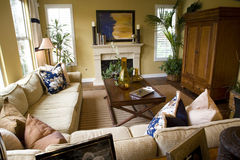 Spacious living room Stock Images
