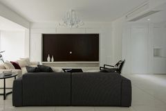 The spacious living room Royalty Free Stock Photos