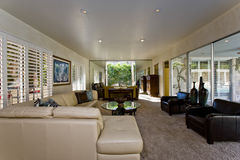 Spacious Living Room In House Stock Images