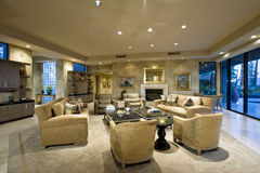 Spacious Living Room In House Stock Image