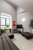 Spacious living room Royalty Free Stock Image