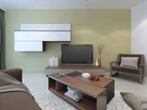 Spacious lounge room design Stock Photos