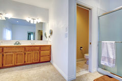 Spacious luxury bathroom Stock Images
