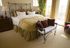 Spacious luxury bedroom. Royalty Free Stock Image