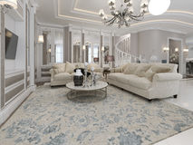Spacious and luxury living room Royalty Free Stock Photos