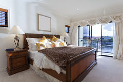 Spacious master bedroom Royalty Free Stock Photo