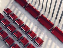 Spacious meeting place. 3D visualisation of modern spacious meeting place stock illustration