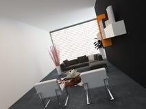 Spacious modern bedroom Royalty Free Stock Image