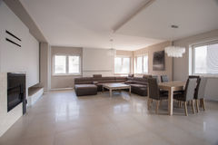 Spacious modern furnished house Stock Image