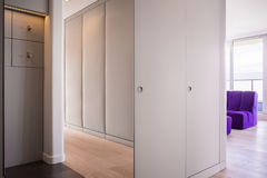 Spacious modern hall. Modern spacious hall design in spacious flat Royalty Free Stock Images