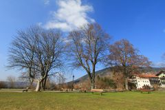 A spacious Park at the Tegernsee, Germany Stock Photos