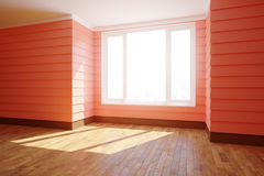 Spacious red interior with sunlight Royalty Free Stock Image