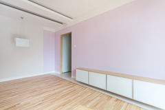 Spacious room in pastel colors Stock Photography
