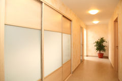 The spacious shined corridor Royalty Free Stock Images