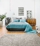 Spacious sleeping area Royalty Free Stock Photography