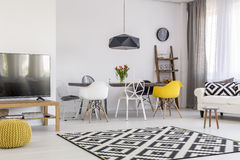 Spacious and trendy apartment for comfortable living Stock Photography
