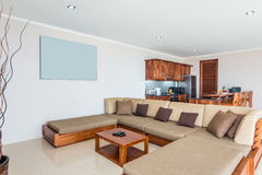 Spacious Villa Interior and living room Stock Images