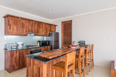 Spacious Villa Interior and living room Stock Photography
