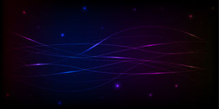 Spacy abstract banner with stripes and stars Royalty Free Stock Image