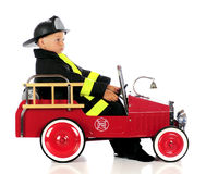 Spacy Fireman Stock Image