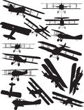 Spad silhouettes. Early Flight silhouettes. Spad was used in WW1 Royalty Free Stock Images