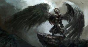 Spadać anioł ilustracji