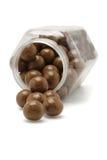 spadać czekoladowy piłka zbiornik Fotografia Stock
