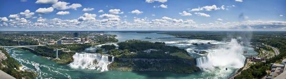 spadać Niagara panorama zdjęcia royalty free