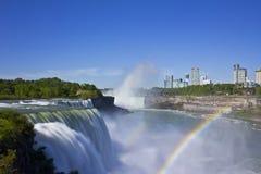 spadać Niagara tęcze Obrazy Royalty Free