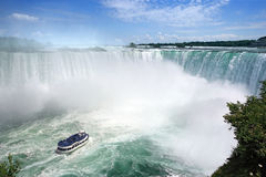 spadać Niagara turystyka obrazy stock