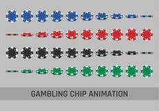 Spadać uprawiający hazard układ scalonego Obrazy Royalty Free