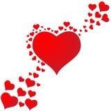 Spadać w miłości z serca tłem Obraz Royalty Free
