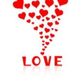 Spadać w miłości z serca tłem Obrazy Stock