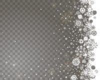 Spada śnieg granica na przejrzystym tle ilustracji